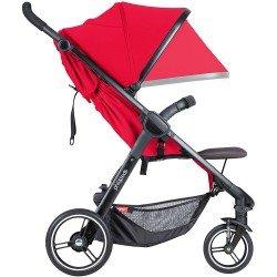 Phil & Teds Детска количка Smart V3, червена